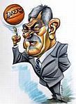 Caricatura NBA de Phil Jackson por Vizcarra