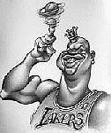 Caricatura NBA de Shaquille O'Neal por Vizcarra