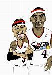 Caricatura NBA de Allen Iverson por white boyZ
