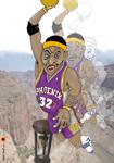Caricatura NBA de Amar'e Stoudemire por white boyZ