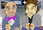 Caricatura NBA de Andres Montes por white boyZ