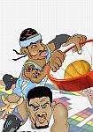 Caricatura NBA de Carmelo Anthony por white boyZ