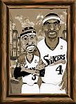 Caricatura NBA de Chris Webber por white boyZ