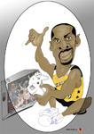 Caricatura NBA de Gilbert Arenas por white boyZ