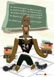 Caricatura NBA de Kevin Garnett por white boyZ