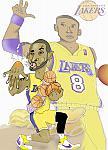Caricatura NBA de Kobe Bryant por white boyZ