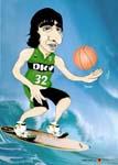 Caricatura NBA de Ricky Rubio por white boyZ
