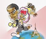 Caricatura NBA de Tony Parker por white boyZ