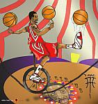 Caricatura NBA de Tracy McGrady por white boyZ